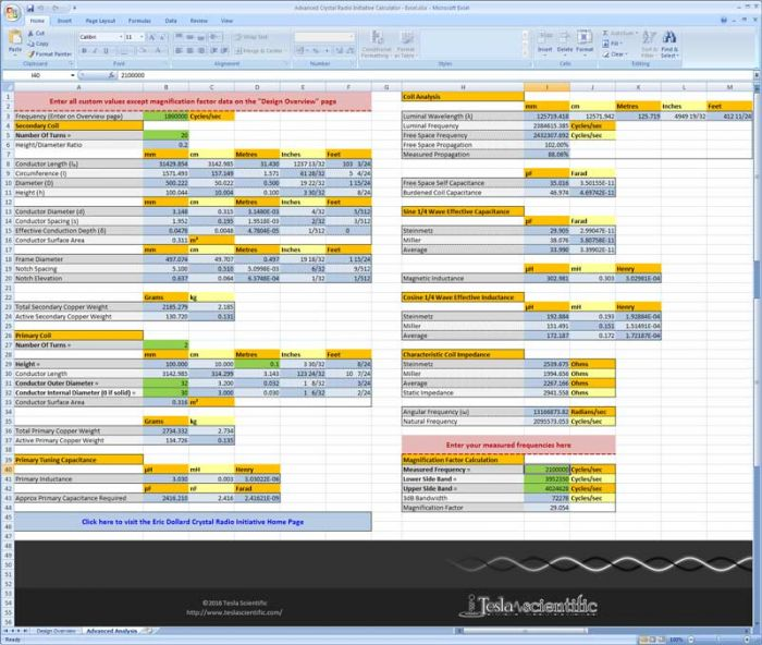 Excel Advanced Analysis Page