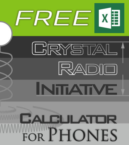 Free Crystal Radio Initiative Calculator For Phones