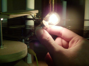 Incandescent Bulb In Hand