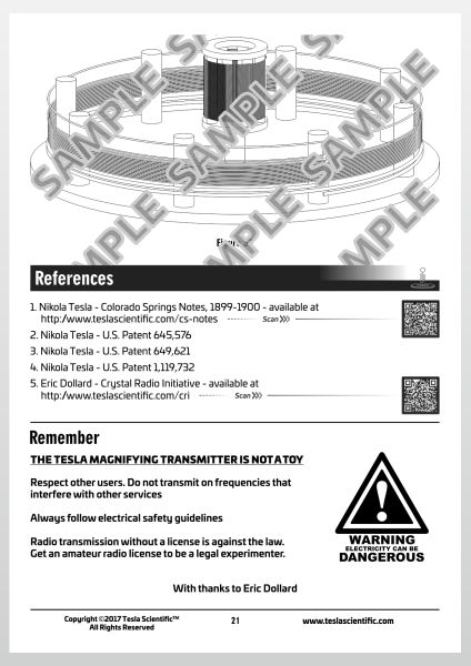 Colorado Springs Magnifying Transmitter Scale Model Design Sheet - Page 21